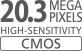 Sensor CMOS de 20,3 megapíxeles