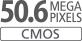 Sensor CMOS de tamaño APS-C de 50,6 megapíxeles
