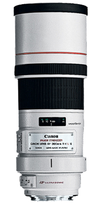 8 Hojas de diafragma, 0,24 Aumento m/áximo, 77 mm di/ámetro del Filtro Objetivo para c/ámaras Canon Blanco Canon EF 300 MM F4L IS USM